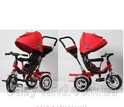 Дитячий триколісний велосипед на великому надувному колесі TR16009 червоний