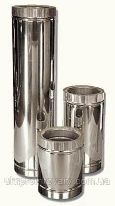 Сэндвич труба 180/2580 L-1000 оцинкованная сталь + нержавеющая сталь, фото 2