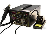 АКЦІЯ! Паяльна станція паяльная станция W.E.P 852D+ 100-500°C/100-500°C 2LED