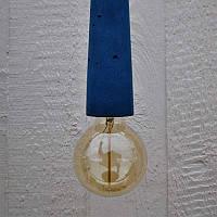 Светильник - патрон Крупный синий, фото 1