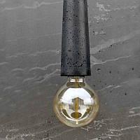 Светильник - патрон Крупный черный, фото 1