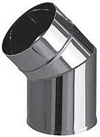 Полуотвод  (угол 45) ф80 из нержавеющей стали 0,5 мм