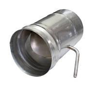 Шибер  поворотный 110 (сварной шов) из нержавеющей стали 1мм