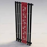 Дизайнерский радиатор Arcus Grek 1600*600мм в цвете Grafit/Red