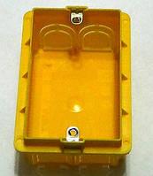 Коробка американского стандарта для монтажа в капитальную стену(1 ганг)