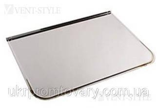 Предтопочный лист 400х600 мм напольный из полированной (зеркальной) нержавеющей стали.