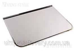 Предтопочный лист 500х700 мм підлоговий з нержавіючої сталі 0,5 мм глянець.