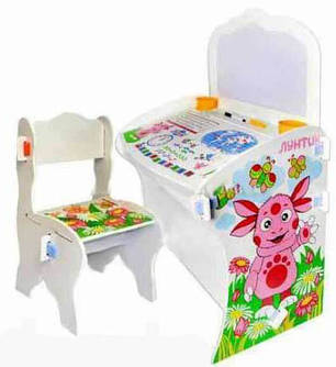 Детская парта со стулом  Bambi W 013 Лунтик, фото 2