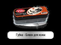Губка Vilo для кожи широкая черная