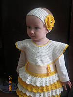 Связала из ваших ниток дочке платье....