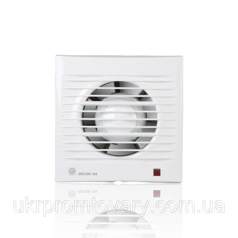 Вентилятор накладной Decor 100 CH с датчиком влажности
