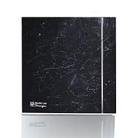 Бесшумный бытовой  вентилятор  Silent 100 CZ Marble Black Design-4C