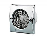Бесшумный вентилятор Вентс 100 Квайт ТН с таймером и датчиком влажности хром