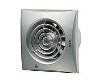 Бесшумный вентилятор Вентс 125 Квайт ТН (Vents 125 Quiet) с таймером и датчиком влажности алюминиевый лак