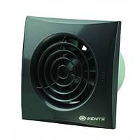 Бесшумный вентилятор Вентс 125 Квайт ТН (Vents 125 Quiet) с таймером и датчиком влажности черный сапфир