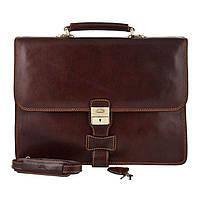 Портфель мужской кожаный Tony Perotti 8007-40-it Коричневый