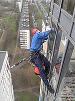 Монтаж вентилируемых фасадов альпинистами в Киеве, услуги промышленного альпинизма