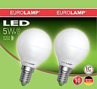 Промо-набор светодиодных ламп EUROLAMP EKO 5Вт G45 E14 2шт Теплый белый 3000К