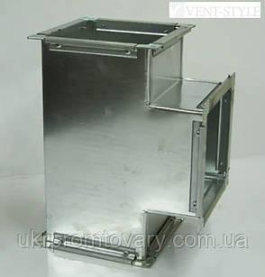 Прямоугольный тройник  100х100 из оцинкованной стали 0,5 мм., фото 2
