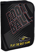 """Пенал твёрдый одинарный с двумя клапанами """"Football"""", 531257"""