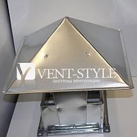 Зонт прямоугольный 700х400 из оцинкованной стали