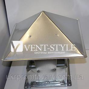 Зонт прямоугольный 800х500 из оцинкованной стали, фото 2