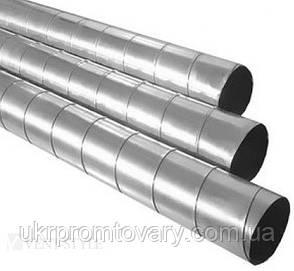 Воздуховоды круглые спирально-навивные из оцинкованной стали ф125 1м, фото 2