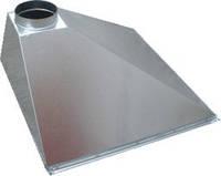 ЗОНТ ВЫТЯЖНОЙ пристенный трехскатный 700x1200  из оцинкованной стали