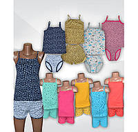 Пижама летняя для девочки, 100 % хлопок, р.р. 28-36