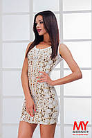 Платье мини по фигуре Змейка с застежкой молния спереди 3217 (НАТ)