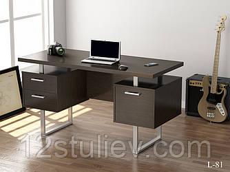 Прямой стол для компьютера без надстройки LOFT-81