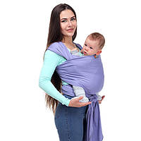 Слинг шарф Фиалка - Для переноски детей, Лав & Керри Трикотажный, фото 1