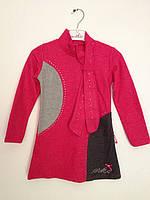 Детская одежда оптом Платье теплое для девочек оптом р.4-11лет, фото 1
