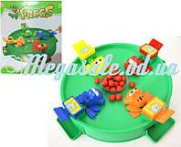 """Настольная игра """"Голодные лягушки"""" от 3 лет: 4 лягушки, 24 шарика"""