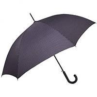 Зонт-трость мужской полуавтомат Derby 77267P-4 Серый в полоску