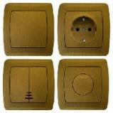 Выключатель проходной с подсветкой (БРОНЗА, БУК, ДУБ, ДЫМ, СЕРЕБРО) Viko CARMEN, фото 2