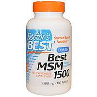 Doctor's Best, Best MSM 1500 (сера для суставов и связок), 1500 мг, 120 таблеток