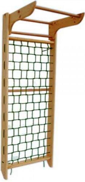Гладиаторская сетка с турником (сосна) 240см