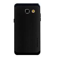 Бампер алюминиевый для Samsung Galaxy A3 (A310 2016) - SGP Slim Armor (черный)