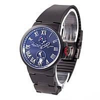 Мужские часы в стиле Nardin chronometer -  черные