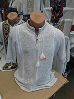 Вышиванка  вязанная  мужская короткий рукав  (С.Е.Р.)