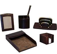 Кожаный настольный набор для руководителя 1006-S3 Коричневый