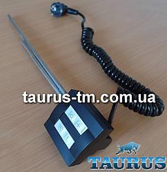 Чёрный электроТЭН TERMA KTX4 BLACK: экран + управление 30-60C + таймер 1-4 ч.; Под пульт ДУ. Польша. 120-1000W
