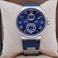 Мужские часы в стиле Nardin - Le Lelocle -  серебристые с синим