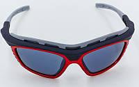 Очки спортивные солнцезащитные BC-114-2R (пластик, акрил, оправа красная)