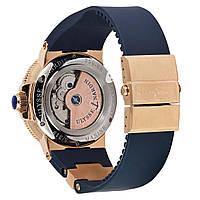 Мужские часы в стиле Nardin - Le Lelocle -  золотистые с синим