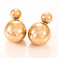 Серьги-пусеты Dior цвета золота