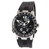 Мужские часы Ulysse Nardin Perpetual Calendars El Toro GMT черные с серебром, фото 1