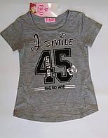 Футболка для девочки F&D  р.4-12лет. Детские футболки оптом.