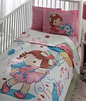 Подростковое постельное белье с покрывалом пике 100х150 TAC  S.SHORTCAKE BABY CUP